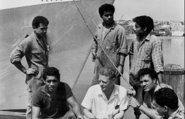 A photograph taken March 1, 1968, after the six Tongan men were rescued. PHOTO: GOLDING / FAIRFAX MEDIA / GETTY IMAGES