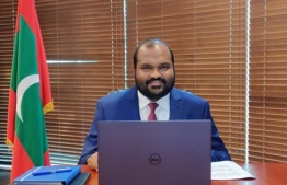 Minister Ali Waheed speaking at the Commonwealth's Virtual Seminar on the Impact of Tourism, Debt and Disaster Risk Management. PHOTO: TOURISM MINISTRY