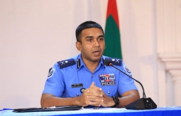 Assistant Police Commissioner Abdullah Fairoosh addresses the press conference regarding easing of lockdown measures. PHOTO: MPS / THE EDITON