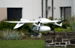 Drones are set to transport coronavirus testing kits and PPE across 19 kilometres between Lorn & Islands Hospital in Oban and Mull & Iona Community Hospital in Craignure on the Isle of Mull. PHOTO: SKYPORTS