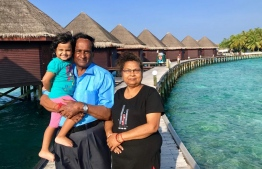 Dr Anil Kumar vacationing in the Maldives with his wife. PHOTO; DR ANIL KUMAR
