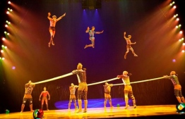 Members of Le Cirque du Soleil perform in a preview of Totem on Thursday April 8, 2010 in Montreal. PHOTO: THE CANADIAN PRESS/Paul Chiasson