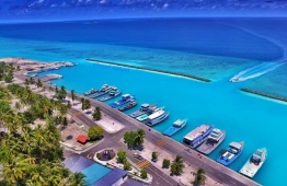 The harbour area of Kudahuadhoo, Dhaalu Atoll. PHOTO: SOCIAL MEDIA