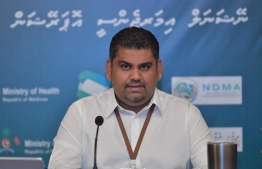 President's Office's Undersecretary Mabrouq Abdul Azeez delivering the latest updates of the ongoing COVID-19 crisis during National Emergency Operations Centre's  (NEOC)'s press conference on June 6. PHOTO: NEOC