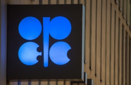 (FILES) In this file photo taken on November 29, 2016, the logo of OPEC is pictured at the OPEC headquarters on the eve of the 171th meeting of the Organization of the Petroleum Exporting Countries in Vienna, Austria.  (Photo by JOE KLAMAR / AFP)