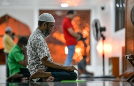 Mosques were reopneed by the Ministry of Islamic Affairs as measures to ease out of lockdown imposed as a result of the ongoing COVID-19 outbreak in the country. PHOTO: NISHAN ALI / MIHAARU