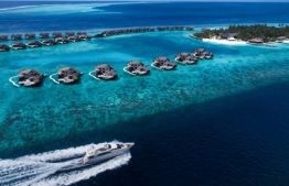 Vittaveli resort [aerial view] is located in Kaafu Atoll, which although spread apart, is home to the highest concentration of resorts, hotels and guesthouses in the country. Rebranded and refurbished, the picturesque OZEN Reserve Vittaveli is due to open doors in October 2020. PHOTO: ATMOSPHERE HOTELS & RESORTS