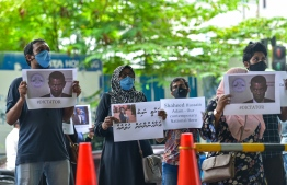 Protesters assemble near Majeedhiyya School on Sosun Magu at capital city Male', led by opposition Progressive Congress Coalition, consisting of Progressive Party of Maldives (PPM) and People's National Congress. PHOTO: AHMED AWSHAN ILYAS / MIHAARU