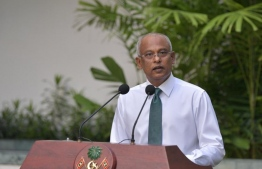 President Ibrahim Mohamed Solih speaking at special press conference held on June 23, to reopen it's borders on July 15. PHOTO: PRESIDENT'S OFFICE