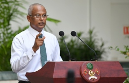 President Ibrahim Mohamed Solih speaking at special press conference held on June 23. PHOTO: PRESIDENT'S OFFICE