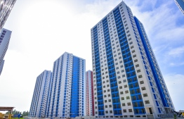 The flat complexes constructed in Hulhumale' Phase Two under the Hiyaa Project. FILE PHOTO/MIHAARU