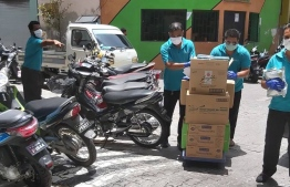 SIMDI Group's delivery agents deliver packages within the Greater Male' area. PHOTO/SIMDI