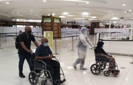 Maldivian patients arrived in Cochin International Airport, for advanced medical treatment in India. PHOTO/INDIAN HIGH COMMISSION