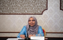 Minister of Gender, Family and Social Services Aishath Mohamed Didi. PHOTO: AHMAD AWSHAN ILYAS/ MIHAARU