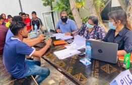 Public Interest Law Centre (PILC) meets with migrant workers of RIX Maldives Pvt Ltd.
