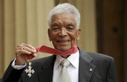 Earl Cameron, one of British film's first black stars in the 1950s, died at the age of 102. PHOTO: ANTHONY DEVLIN/AP