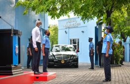 PRESIDENT IBRAHIM MOHAMED SOLIH MEETING WITH POLICE