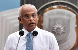 President Ibrahim Mohamed Solih. PHOTO: NISHAN ALI / MIHAARU