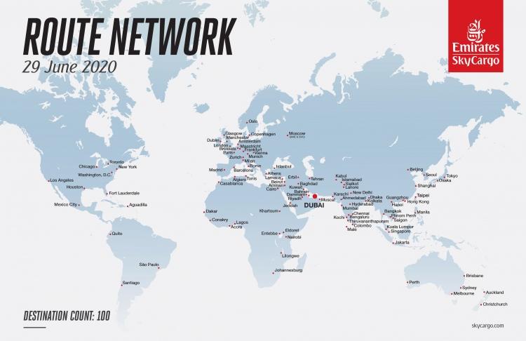 Emirates SkyCargo expands network to 100 destinations. PHOTO: EMIRATES SKYCARGO