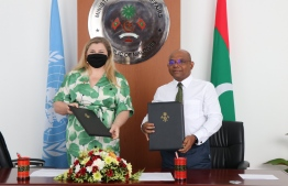 UN and foreign ministry signs agreements.