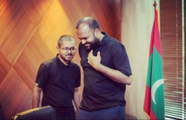 Mohamed Hassaan (L) and Ali Waheed, who were dismissed from their posts as Senior Policy Director and Tourism Minister on July 9, 2020.