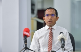 Minister of Communications, Science and Technology Mohamed Maleeh Jamal. PHOTO: NISHAN ALI/ MIHAARU