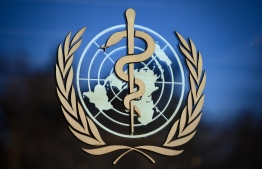 (FILES) In this file photo taken on February 24, 2020 shows the logo of the World Health Organization (WHO) at their headquarters in Geneva. (Photo by Fabrice COFFRINI / AFP)