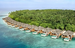 An aerial view of Dusit Thani's over-water villas. PHOTO: DUSIT THANI MALDIVES