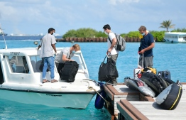 Tourists who arrived in Maldives on July 15 after the country reopened borders following lockdown. FILE PHOTO: NISHAN ALI / MIHAARU