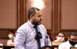 MP Ahmed Shiyam: he submitted an emergency motion to ban Israeli tourists and products -- Photo: Majilis