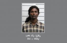 Ibrahim Nihan, Landhoo, Noonu Atoll, 22-year-old was ordered to be remanded until the end of his trial. PHOTO: POLICE