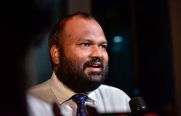 Former Minister of Tourism Ali Waheed. PHOTO: AHMED AWSHAN ILYAS/ MIHAARU