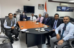 The opposition delegations sat down with the Indian High Commissioner to Maldives Sunjay Sudhir on Monday to discuss bilateral relations and regarding the jailed former president Abdulla Yameen Adul Gayyoom. PHOTO: OPPOSITION ALLIANCE / TWITTER