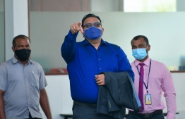 Former vice president Ahmed Adeeb on July 23, prior to his remand hearing at the High Court. AHMED AWSHAN ILYAS / MIHAARU
