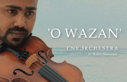 Riley Sherrief on the cover of a poster for One Orchestra's 'O Wazan' version. PHOTO: ONE ORCHESTRA
