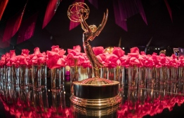 (FILES) In this file photo taken on September 12, 2019 an Emmy statue at the 71st Emmy Awards Governors Ball press preview at LA Live in Los Angeles, California. - A day after announcing nominations for the Emmy Awards, the Television Academy on July 29, 2020 informed top nominees that the ceremony in September will be held online because of the COVID-19 pandemic. (Photo by Mark RALSTON / AFP)