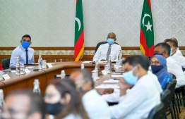 President Ibrahim Mohamed Solih during a cabinet meeting. PHOTO: PRESIDENT'S OFFICE