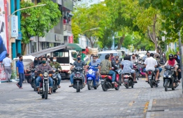 Roads of Male' City during the 'new normal' amidst the ongoing pandemic. PHOTO: MIHAARU