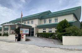 The exterior of Ungoofaaru Regional Hospital in Raa Atoll. PHOTO: UNGOOFAARU REGIONAL HOSPITAL