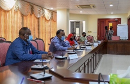 """Five professionals from the health sector meet with the 19th Parliament's Committee of Social Affairs, urging a swift and immediate response to curbing the """"declining"""" status of Maldives' healthcare facilities and services. PHOTO: MAJLIS"""