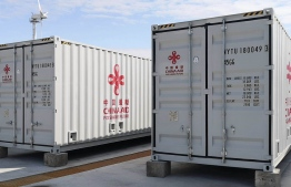 China aid containers in Maldives. PHOTO: TWITTER