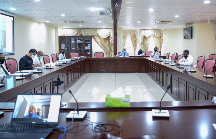 The Parliamentary Committee on National Security and Foreign Relations, meets with Home Minister and Police to discuss Section 24 of the Peaceful Assembly Act. PHOTO: MAJLIS