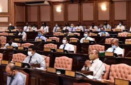 A Parliament sitting in progress. The Parliamentary Committee on National Security and Foreign Relations abolished former President Abdulla Yameen Abdul Gayoom's amendment to the Freedom of Peaceful Assembly Act on October 21. PHOTO: PARLIAMENT