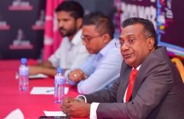 Leader of Dhivehi Rayyithunge Party (DRP) and parliament representative of Kaafu Atoll's Kaashidhoo constituency Abdulla Jabir. PHOTO: MIHAARU