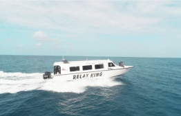 A speedboat owned by Relax Speed, which commenced fery services between the southernmost atolls in Maldives. PHOTO: RELAX SPEED
