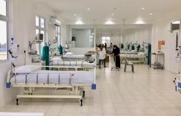 Inside the COVID-19 management facility at GA.Villingili