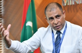 Tourism Minister Dr Abdulla Mausoom gives interview to Mihaaru newspaper. PHOTO/MIHAARU