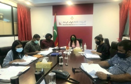(FILE) Maldives Broadcasting Commission members meeting: according to BroadCom 31 resorts that have been re-broadcasting illegally -- Photo: BroadCom