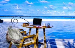 Visitors an opt to spend upwards of USD 23,500 for a week-long 'workation' at one of Maldives' luxury resorts located in the UNESCO Biosphere Reserve in Baa Atoll. PHOTO: THE NAUTILUS MALDIVES