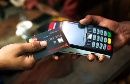 Wireless NFC cashcards used by Bank of Maldives. PHOTO: BANK OF MALDIVES